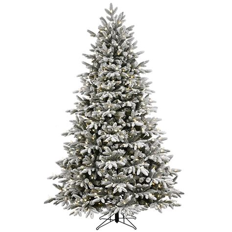 shop ge 7 5 ft pre lit alaskan fir flocked artificial