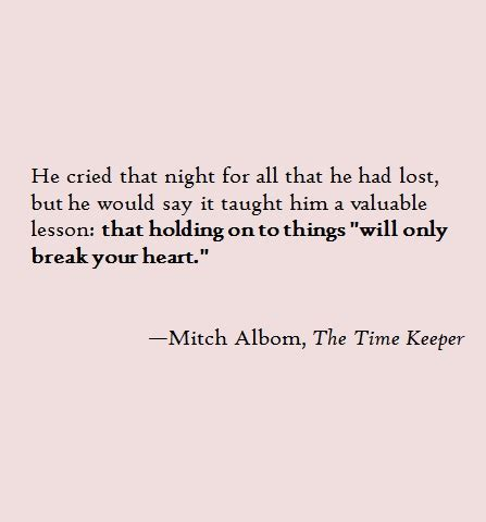 Mitch Albom Quotes About Time