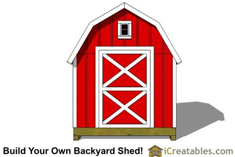 Gambrel Shed Plans 8x8 by 8x8 Gambrel Shed Plans Icreatables