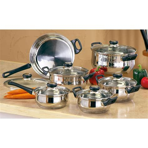 cookware gourmet chef stainless steel pc kitchen