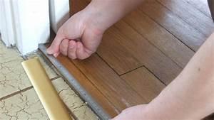 poser une barre de seuil With seuil de porte a coller
