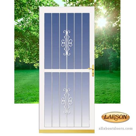 larson traditional security door aluminum frame