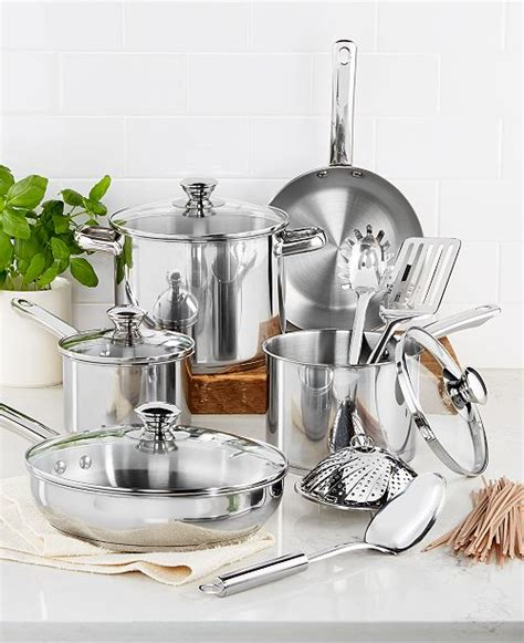 tools   trade stainless steel  pc cookware set created  macys reviews cookware