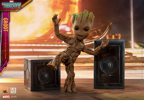 Guardians Of The Galaxy Hd Guardians Of The Galaxy Vol 2 Life Size Baby Groot By Hot Toys The Toyark News