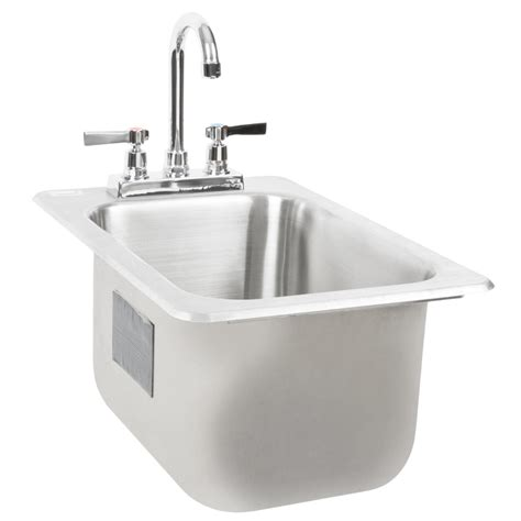 "Advance Tabco Di110 Drop In Stainless Steel Sink 10"" Deep"
