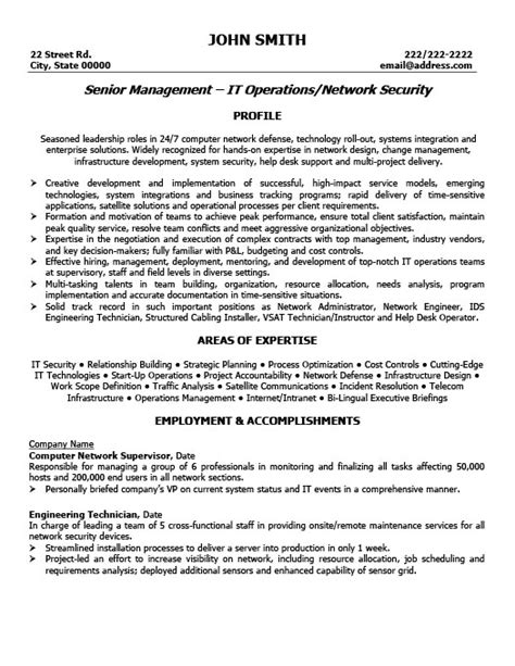 Resume Template For Senior Management by Senior Manager Resume Template Premium Resume Sles