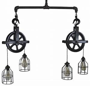 Houzz west ninth vintage double barn pulley ceiling