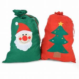 Buy Felt Christmas Sack Gift Bags Red and Green
