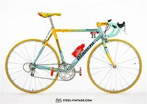 Steel Vintage Bikes Marco Pantani Bianchi Team Mercatone Uno 1998
