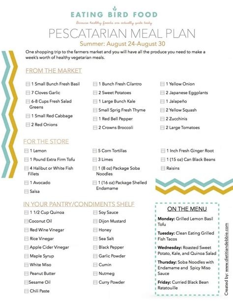 pescatarian meal plan  eating bird food pescatarian