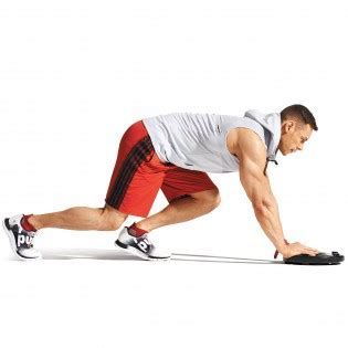 properly execute  plate push muscle fitness