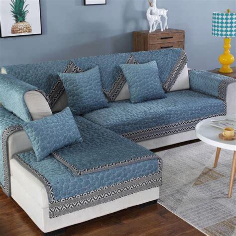 Blue Chenille Sofa by Fyjafon 1 Sofa Cover Chenille Sofa Towel Blue