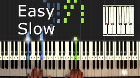yiruma river flows   slow piano tutorial easy