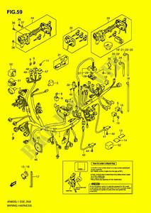 Wiring Harness  An650al1 E24  For Suzuki Burgman 650 2011