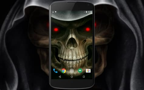 Skull Animated Wallpaper - skull 3d live wallpaper android apps on play