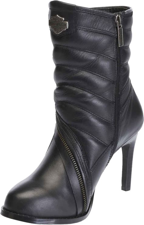 Harley Davidson Women Olanta High Heel Black Leather