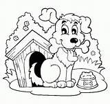 Coloring Dog Clipart Bone Gianfreda Library sketch template