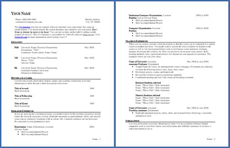 Cv Outline by Free Cv Template Curriculum Vitae Template And Cv Exle