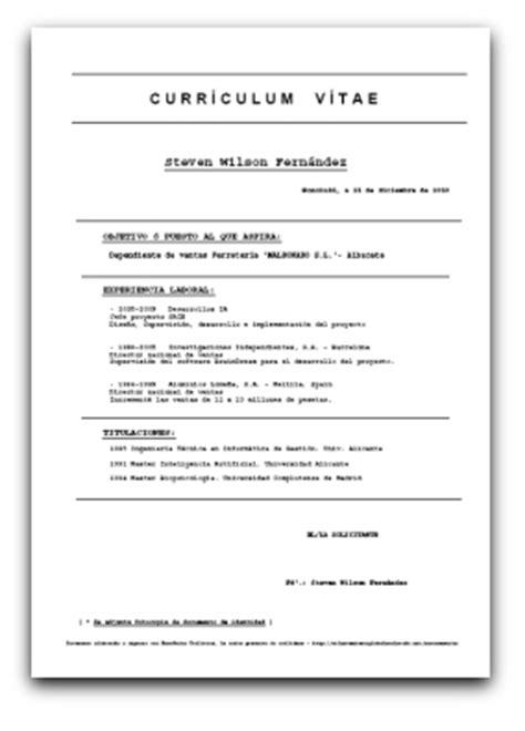 Modelos De Resume Gratis by Curriculum Vitae Modelos Gratis