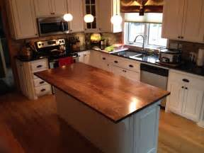 kitchen island custom crafted solid walnut kitchen island top by custom furnishings workshop custommade