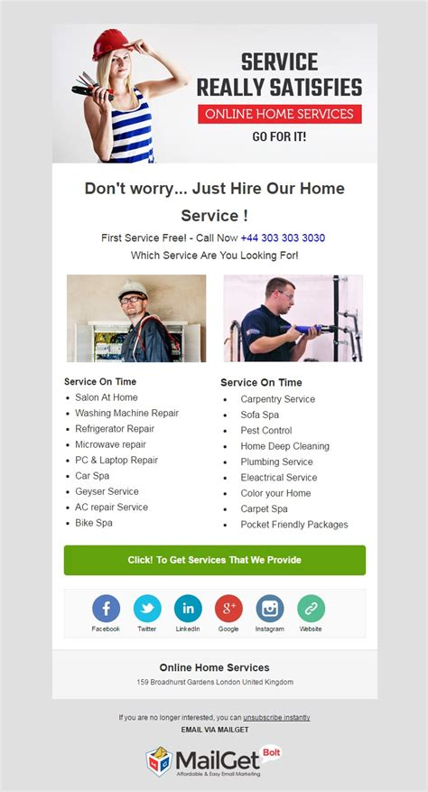 home improvement email marketing services formget