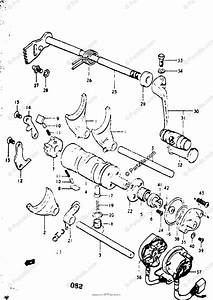 Suzuki Motorcycle 1975 Oem Parts Diagram For Gear Shifting
