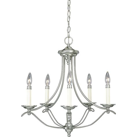 brushed nickel chandelier progress lighting avalon collection brushed nickel 5 light