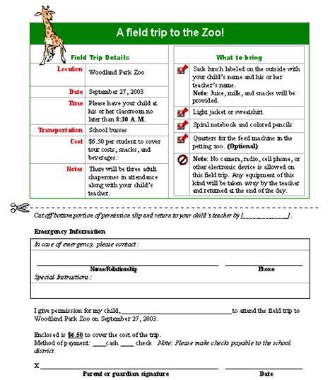 field trip permission slip template field trip permission slip form template printable forms letters sheets