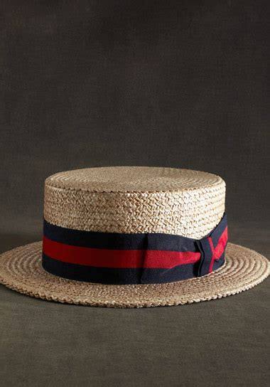 great gatsby collection straw boater hat green