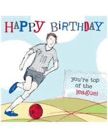 Happy Birthday Football Card