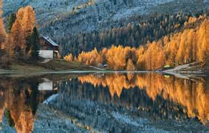 Autumn Lake Wallpapers by Wallpaper Forest Trees Autumn Lake Cabin Images For