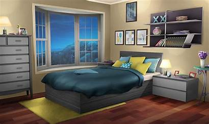 Bedroom Night Backgrounds Episode Anime Background Interactive