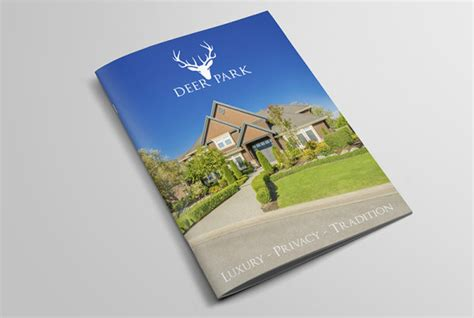 property pamphlet property brochure design estate agents development