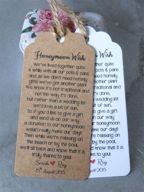 money wedding registry 17 best ideas about wedding gift poem on