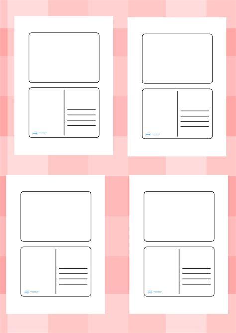 twinkl resources blank postcard templates printable
