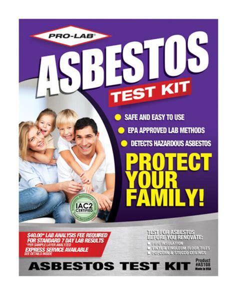 pro lab asbestos test kit  pk ebay