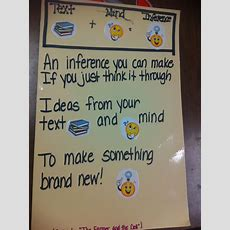 Top 25 Ideas About First Grademaking Inferences On Pinterest  Teaching, Schema Anchor Chart
