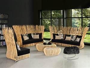Salon Rotin Exterieur : canape rotin interieur maison design ~ Teatrodelosmanantiales.com Idées de Décoration