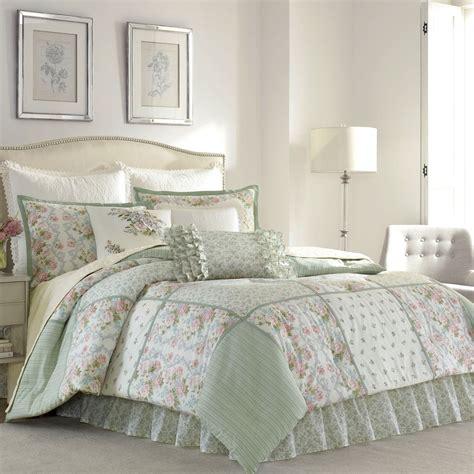 laura ashley bedding celadon floral block comforter bedding by