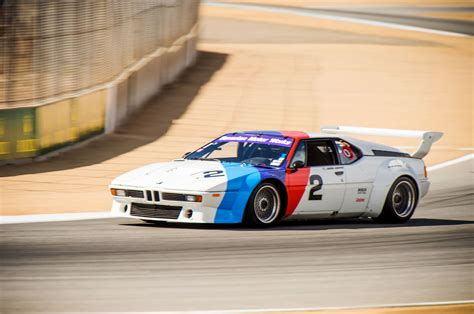 the one racing the mid engine bmw m1 supercar at mazda raceway