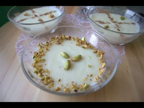 mhalbi creme au riz dessert algerien pour ramadan