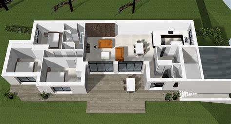 plans de cuisine ouverte plan d 39 une maison contemporaine à rennes cocoon habitat