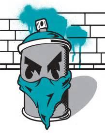 Cartoon Graffiti Spray Can Drawing