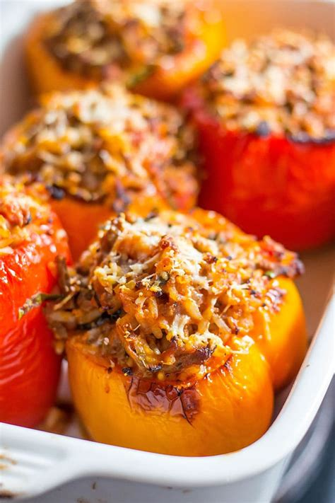 italian stuffed peppers errens kitchen
