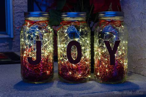 make christmas mason jar twinkle light luminaries time with thea