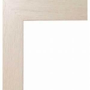 Cadre 40 X 60 : encadrement bois plat stri ivoire avec verre et dos ~ Melissatoandfro.com Idées de Décoration