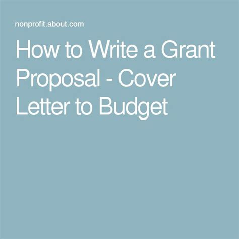 How To Write A Winning Cover Letter by Best 25 Grant Ideas On How To Write