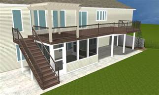 ft wayne second story deck with timbertech