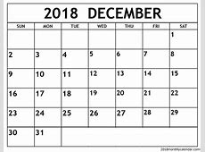 Download Printable November & December 2018 Calendar