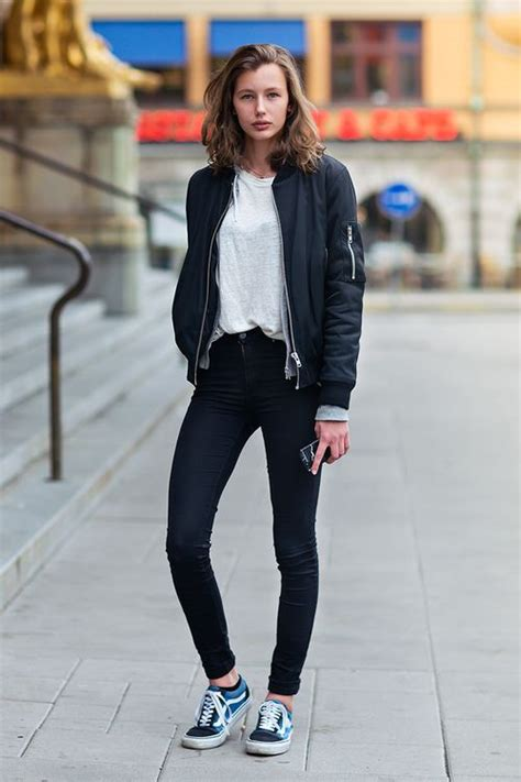 49 best images about || Fashion  Old Skool Vans Street Style Women || on Pinterest | Jeans and ...
